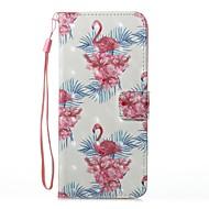 Кейс для Назначение SSamsung Galaxy Кошелек Бумажник для карт со стендом Флип С узором Магнитный Чехол Фламинго Твердый Искусственная кожа