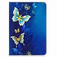 お買い得  タブレット用アクセサリー-ケース 用途 Samsung Galaxy / タブ9.7 フルボディーケース / タブレットケース バタフライ ハード PUレザー のために