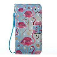 Кейс для Назначение SSamsung Galaxy Бумажник для карт Кошелек со стендом Флип С узором Магнитный Чехол Фламинго Твердый Искусственная кожа