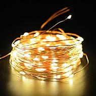 olcso LEDszalagfények-rézhuzal tündér kötél 50ft 100led 2 mód starry szalag lámpa vízálló ip65 szoláris dekoráció halloween kert kültéri hálószoba nyaralás