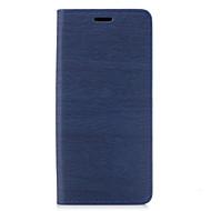 Кейс для Назначение SSamsung Galaxy Бумажник для карт со стендом Флип Чехол Полосы / волосы Твердый Искусственная кожа для Note 8