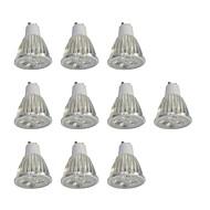 10 stuks 5W GU10 LED-spotlampen 10 leds Krachtige LED Dimbaar Wit 400lm 6000K 110-120V
