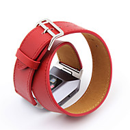для fitbit ионный высококачественный сверхдлительный неподдельный кожаный ремешок для fitbit ионный двойной браслет браслета кожаный