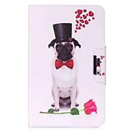 お買い得  タブレット用アクセサリー-ケース 用途 Samsung Galaxy フルボディーケース / タブレットケース 犬 / パターン柄 ハード PUレザー のために Tab A 10.1 (2016)