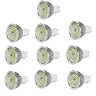 billige -10 stk 6w gu10 / e27 / e14 / gu5.3 led spotlight 48 * 2835smd 550lm varm / kølig hvid aluminium spotlampe ac85-265v