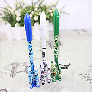preiswerte Schreibwaren-Gel Stift Stift Gelstifte Stift, Kunststoff Blau Tintenfarben Für Schulzubehör Bürobedarf Packung 12 pcs