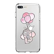 Недорогие Кейсы для iPhone 8 Plus-Кейс для Назначение Apple iPhone X iPhone 8 iPhone 8 Plus Ультратонкий Прозрачный С узором Кейс на заднюю панель Слон Воздушные шары