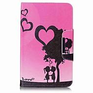 srdce vzor karty držitel peněženku se stojanem flip magnetic kožené pouzdro pro samsung galaxy tab e 8.0 t377 t377v 8.0 palcový tablet pc