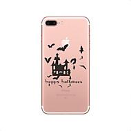 Недорогие Кейсы для iPhone 8-Кейс для Назначение Apple iPhone X iPhone 8 Ультратонкий Прозрачный Кейс на заднюю панель Halloween Мягкий ТПУ для iPhone X iPhone 8