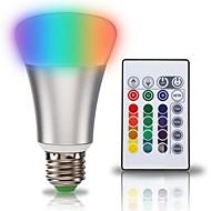 1セット 10W E27 LEDボール型電球 A70 1 LEDの COB 2 in 1 RGB +ホワイト 900lm +6000K AC 85-265V
