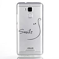 お買い得  携帯電話ケース-ケース 用途 Asus パターン バックカバー ワード/文章 ソフト TPU のために Asus Zenfone 3 Max ZC520TL