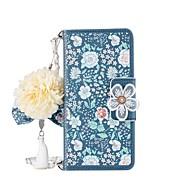 Недорогие Чехлы и кейсы для Galaxy S8 Plus-Кейс для Назначение SSamsung Galaxy S8 Plus S8 Бумажник для карт Кошелек со стендом Флип Магнитный С узором Чехол Цветы Твердый Кожа PU