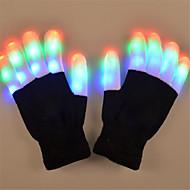お買い得  おもちゃ & ホビーアクセサリー-LED照明 / LED手袋 休暇 点灯 / 指先 成人 ギフト 2 pcs