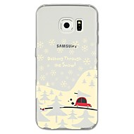 Недорогие Чехлы и кейсы для Galaxy S8-Кейс для Назначение SSamsung Galaxy S8 Plus S8 С узором Кейс на заднюю панель Рождество Мягкий ТПУ для S8 Plus S8 S7 edge S7 S6 edge plus