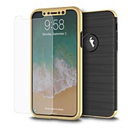 Недорогие Защитные плёнки для экрана iPhone-Защитная плёнка для экрана Apple для iPhone X Закаленное стекло 1 ед. Защитная пленка для экрана Против отпечатков пальцев Защита от