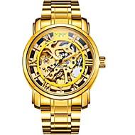Męskie Pudełka na zegarki Otwieraki do zegarków Unikalne Kreatywne Watch Na codzień Modny Do sukni/garnituru Szkieletowy Zegarek na