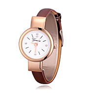 Women's Fashion Watch Quartz Leather Band Casual Minimalist Black White Brown