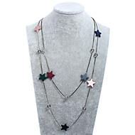 女性用 チェーンネックレス レイヤードネックレス 幾何学形 樹脂 フォーマル カジュアル 韓国語 甘い ファッション ジュエリー 用途 パーティー