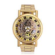 Men's Wrist watch Quartz Large Dial Alloy Band Casual Cool Silver Gold