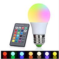 1set 3W E27 Ampoules Globe LED 1 diodes électroluminescentes LED Haute Puissance Décorative RVB 350-380lm 2700-6500K AC 85-265V
