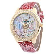 Dames Vrijetijdshorloge Dress horloge Polshorloge Gesimuleerd Diamant Horloge Chinees Kwarts imitatie Diamond PU Band Bloem Vintage