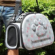 お買い得  ペット用品-ネコ 犬 キャリーバッグ ペット用 キャリア 高通気性 幸福 グレー ピンク