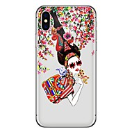 Case For Apple iPhone X iPhone 8 Plus Pattern Back Cover Sexy Lady Soft TPU for iPhone X iPhone 8 Plus iPhone 8 iPhone 7 Plus iPhone 7