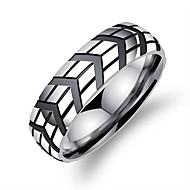 Men's Band Rings Fashion Korean Titanium Steel Geometric Jewelry For Daily Formal