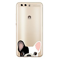 お買い得  携帯電話ケース-ケース 用途 Huawei社P9 / Huawei社P9ライト / Huawei社P8 P10 Lite パターン バックカバー 犬 ソフト TPU のために P10 Plus / P10 Lite / P10 / Huawei社P9プラス