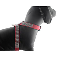 Collar Harness Foldable Solid Rhinestone PU Leather/Polyurethane Leather