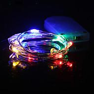 お買い得  -hkv®1m多色LEDストリングライトバッテリーLED銅線妖精の休日ライトクリスマス雑草パーティーの装飾