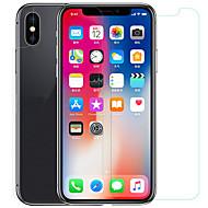Недорогие Защитные плёнки для экрана iPhone-Защитная плёнка для экрана Apple для iPhone X PET Закаленное стекло 1 ед. Защитная пленка для экрана и задней панели Антибликовое