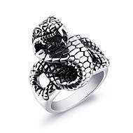 Men's Statement Rings Rock Hiphop Titanium Steel Geometric Jewelry For Bar Club