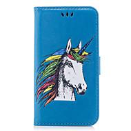 voordelige Nieuwe collectie Samsung-accessoires-hoesje Voor Samsung Galaxy S8 Plus S8 Kaarthouder Flip Patroon Reliëfopdruk Volledig hoesje Eenhoorn dier Hard PU-nahka voor S8 Plus S8