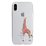 Case For Apple iPhone X iPhone 8 Plus Pattern Back Cover Playing with Apple Logo Cartoon Soft TPU for iPhone X iPhone 8 Plus iPhone 8