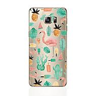 Недорогие Чехлы и кейсы для Galaxy S7-Кейс для Назначение SSamsung Galaxy S8 Plus / S8 С узором Кейс на заднюю панель Фламинго Мягкий ТПУ для S8 Plus / S8 / S7 edge