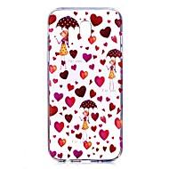 Кейс для Назначение SSamsung Galaxy J7 (2017) J5 (2017) Прозрачный С узором Задняя крышка С сердцем Соблазнительная девушка Мягкий TPU для
