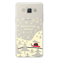 Недорогие Чехлы и кейсы для Galaxy A8-Кейс для Назначение SSamsung Galaxy A7(2017) С узором Кейс на заднюю панель Рождество / Мультипликация Мягкий ТПУ для A3 (2017) / A5