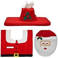 baratos Decorações para Festas & Feriados-Decorações de férias Santa Tapetes de Natal Etiquetas para Presente Natal Festa Vermelho