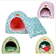 Cat Dog Bed Pet Mats & Pads Animal Lolita Warm Breathable Soft Folding Blue Yellow