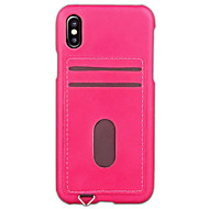 Недорогие Кейсы для iPhone 8-Кейс для Назначение Apple iPhone X iPhone 8 iPhone 6 iPhone 7 Plus iPhone 7 Бумажник для карт Кейс на заднюю панель Сплошной цвет Твердый