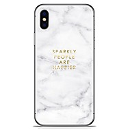 abordables Ofertas Diarias-Funda Para Apple iPhone X iPhone 8 Plus Diseños Funda Trasera Mármol Suave TPU para iPhone X iPhone 8 Plus iPhone 8 iPhone 7 Plus iPhone