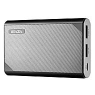 Недорогие Портативные аккумуляторы-waza 10000mah usb power bank, самая маленькая и легкая внешняя батарея 10000mah, ультракомпактная, высокоскоростная зарядка для iphone, галактики