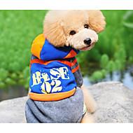 犬 ジャンプスーツ 犬用ウェア アクリル繊維 冬 春/秋 カジュアル/普段着 文字&番号 ブルー コスチューム ペット用