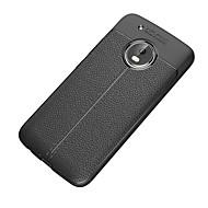 Etui Käyttötarkoitus Motorola G5 Plus G5 Iskunkestävä Himmeä Takakuori Yhtenäinen väri Pehmeä TPU varten Moto G5 Plus Moto G5 Moto E4