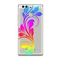お買い得  携帯電話ケース-ケース 用途 Huawei社P9 Huawei社P9ライト Huawei社P8 Huawei Huawei社P9プラス Huawei社P8ライト Huawei社メイト8 P9 P10 クリア パターン バックカバー フラワー ソフト TPU のために P10 Plus