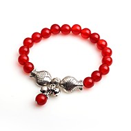 Women's Strand Bracelet Onyx Animals Fashion Agate Circle Jewelry For Gift Daily
