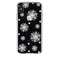 Недорогие Кейсы для iPhone 8 Plus-Кейс для Назначение Apple iPhone X iPhone 8 Прозрачный С узором Кейс на заднюю панель Рождество Мягкий ТПУ для iPhone X iPhone 8 Pluss