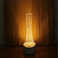 1 sarja 3d tunnelma yövalo käsi tunne himmennettävä usb powered gift lamp majakka