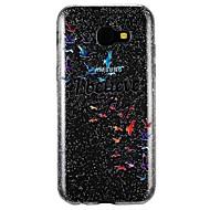 Недорогие Чехлы и кейсы для Galaxy A5(2017)-Кейс для Назначение SSamsung Galaxy A5(2017) A3(2017) Полупрозрачный С узором Рельефный Кейс на заднюю панель Слова / выражения Сияние и